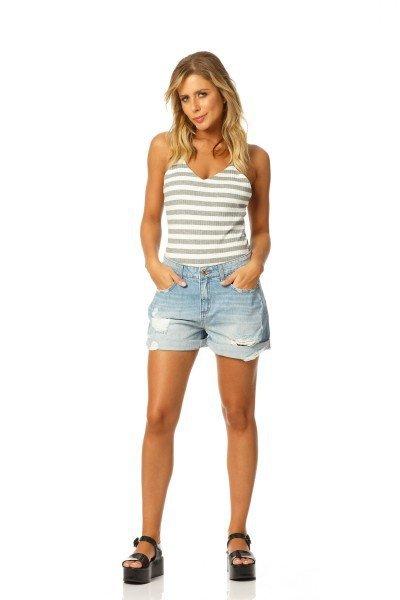 6353a763c ... shorts boyfriend reducao dz6160 denim zero frente ...