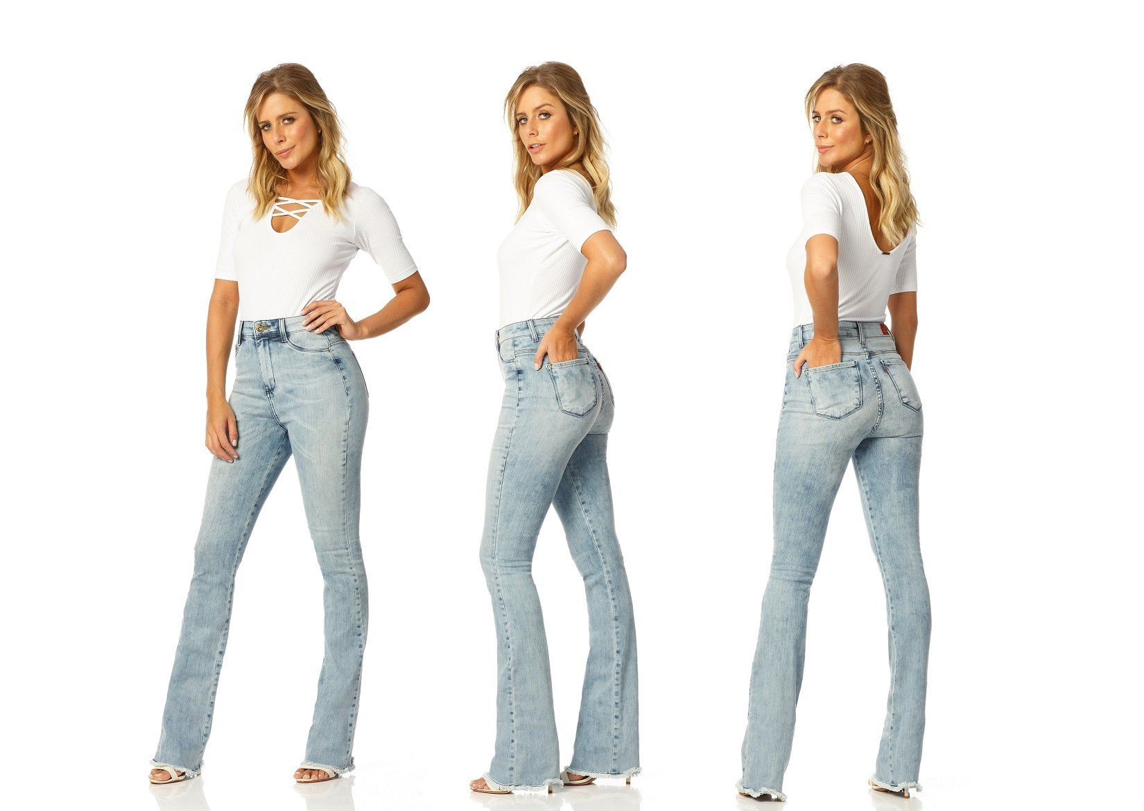 calca boot cut hot pants sky dz2225 denim zero descricao