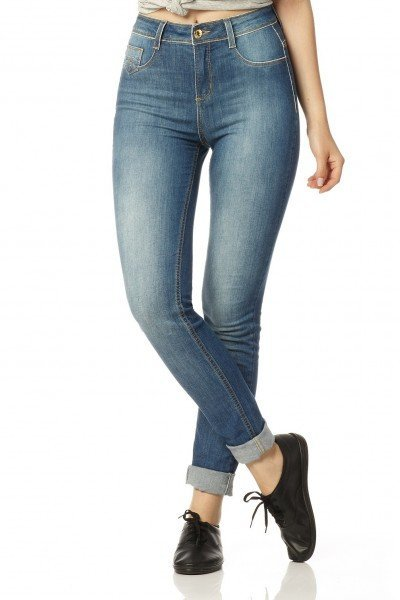 calca skinny media stone dz2270 frente proximo denim zero