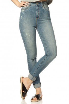 calca skinny hot pants reducao dz2310 frente proximo denim zero