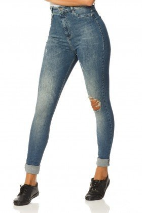calca skinny hot pants reducao dz2316 frente proximo denim zero