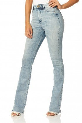 calca boot cut hot pants sky dz2225 frente proximo denim zero