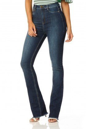 calca boot cut hot pants stone dz2261 frente proximo denim zero