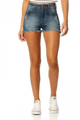 shorts pin up stone dz6148 frente proximo denim zero