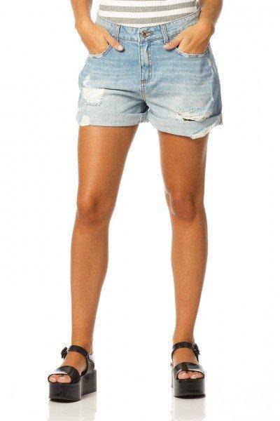 3d93500a6 Bermuda Boyfriend. Shorts Feminino Boyfriend Jeans Claro - DZ6160. shorts  boyfriend reducao dz6160 denim zero frente proximo
