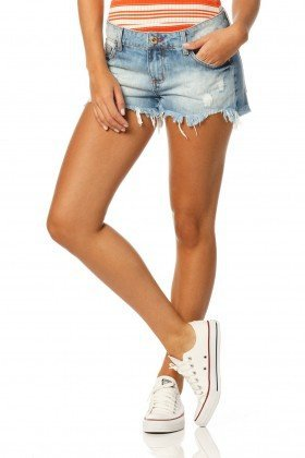 shorts loose sky dz6139 frente proximo denim zero