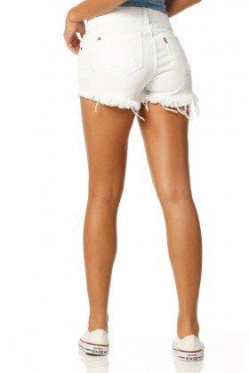 shorts young branco dz6146 costas proximo denim zero