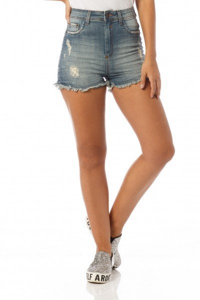 shorts pin up puidos dz6155 denim zero frente proximo