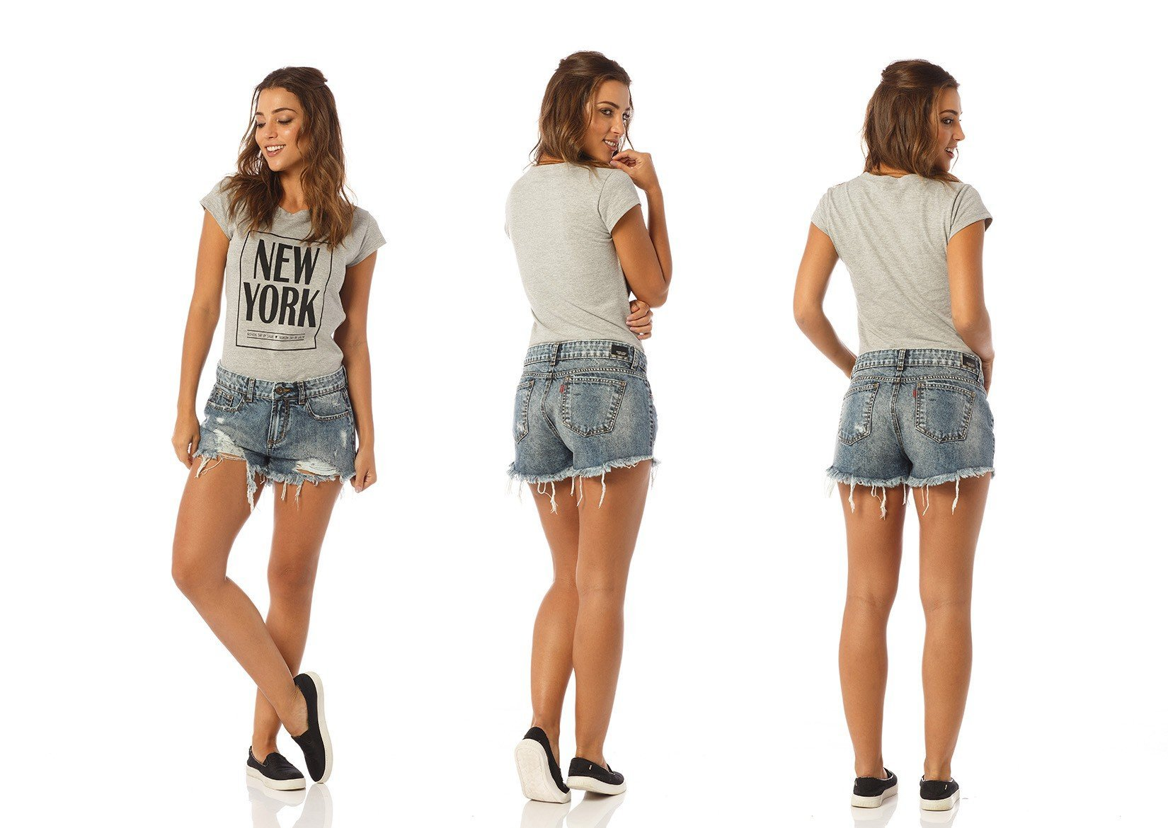 shorts feminino young detonado dz6183 denim zero descricao