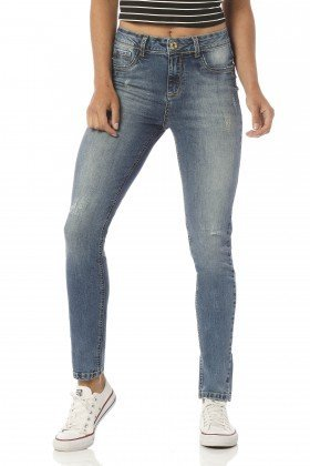 calca skinny media estonada dz2407 frente proximo denim zero