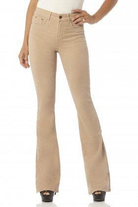 calca flare media cappuccino color dz2459 frente proximo denim zero