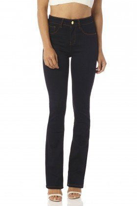 calca boot cut media amaciada dz2441 frente proximo denim zero