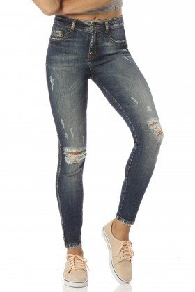 calca skinny cropped hot destroyed dz2452 frente proximo denim zero