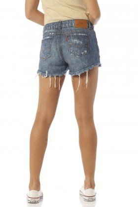 shorts feminino young estonado dz6184 costas proximo denim zero