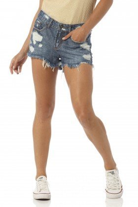 shorts feminino young estonado dz6184 frente proximo denim zero