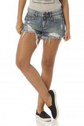 shorts feminino young detonado dz6183 frente proximo denim zero