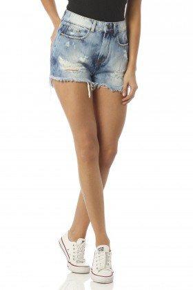 shorts feminino setentinha estonado dz6182 frente proximo denim zero