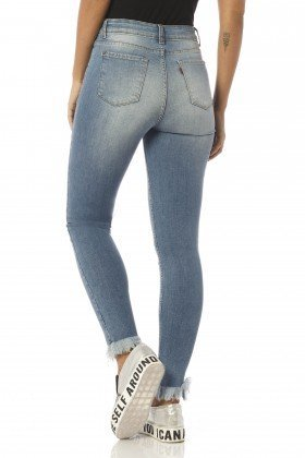 calca skinny cropped media detonada dz2412 costas proxima denim zero