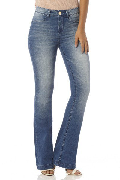 calca flare media escura dz2439 denim zero frente proxima