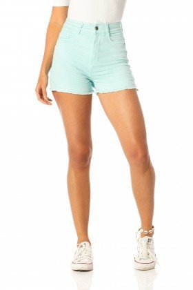 shorts feminino pin up fresh dz6206 frente proximo denim zero