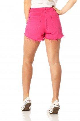 shorts feminino setentinha penelope dz6215 costas proximo denim zero