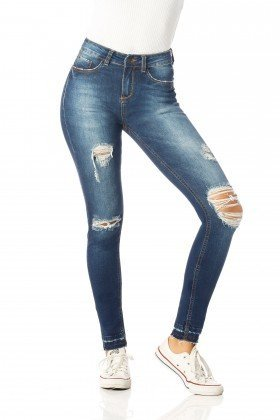 calca skinny media rasgos dz2538 frente proximo denim zero