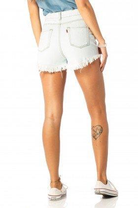 shorts feminino setentinha claro dz6202 costas proximo denim zero