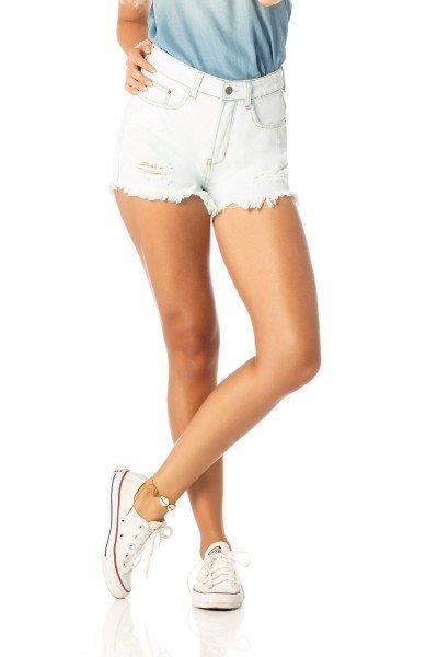 shorts feminino setentinha claro dz6202 frente proximo denim zero