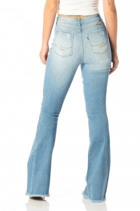 calca flare media puidos dz2519 costas proximo denim zero