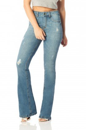 calca flare media vintage dz2518 frente proximo denim zero
