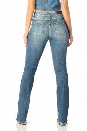 calca boot cut barra irregular dz2514 costas proximo denim zero
