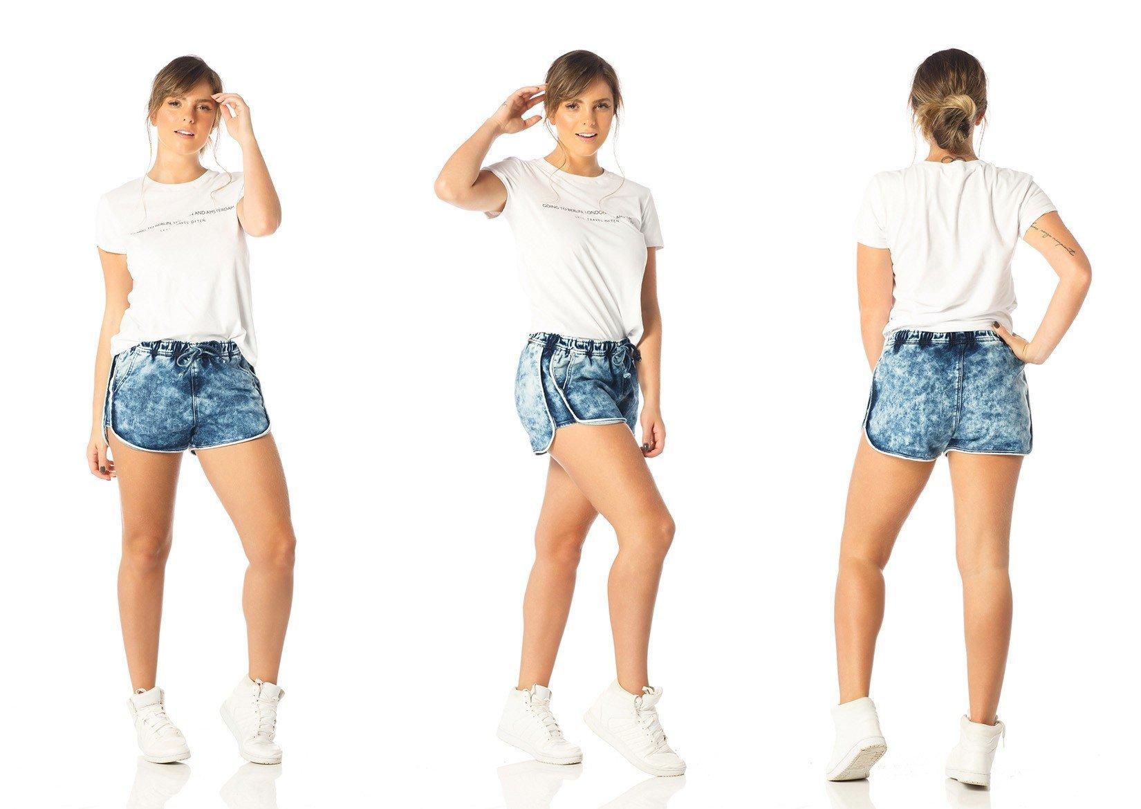 shorts feminino sport marcacao dz6193 tripla denim zero