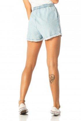 shorts feminino sport claro dz6192 costas proximo denim zero