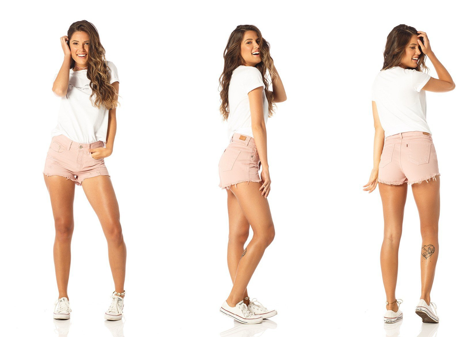 shorts feminino young old roset dz6194 tripla denim zero