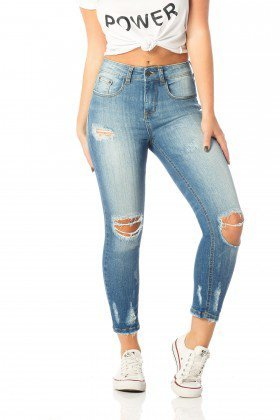 calca skinny media cropped rasgos dz2534 frente proximo denim zero