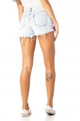 shorts feminino young claro dz6195 costas proximo denim zero