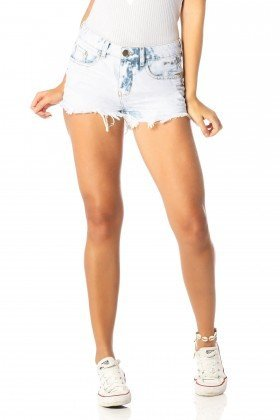 shorts feminino young claro dz6195 frente proximo denim zero