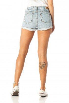 shorts feminino young barra dobrada dz6197 costas proximo denim zero