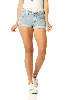 shorts feminino young barra dobrada dz6197 frente proximo denim zero