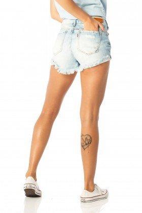 shorts feminino young marcacao dz6200 costas proximo denim zero