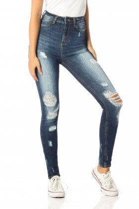 calca skinny hot pants destroyed dz2525 frente proximo denim zero