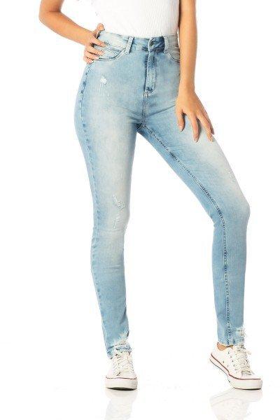 calca skinny hot pants barra rasgada dz2520 frente proximo denim zero