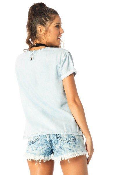 a591e687e7 blusa feminina manga curta clara dz11113 costas proximo denim zero