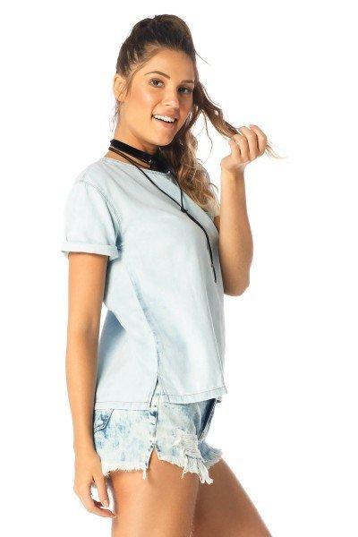 ef54ad4024 blusa feminina manga curta clara dz11113 lado proximo denim zero