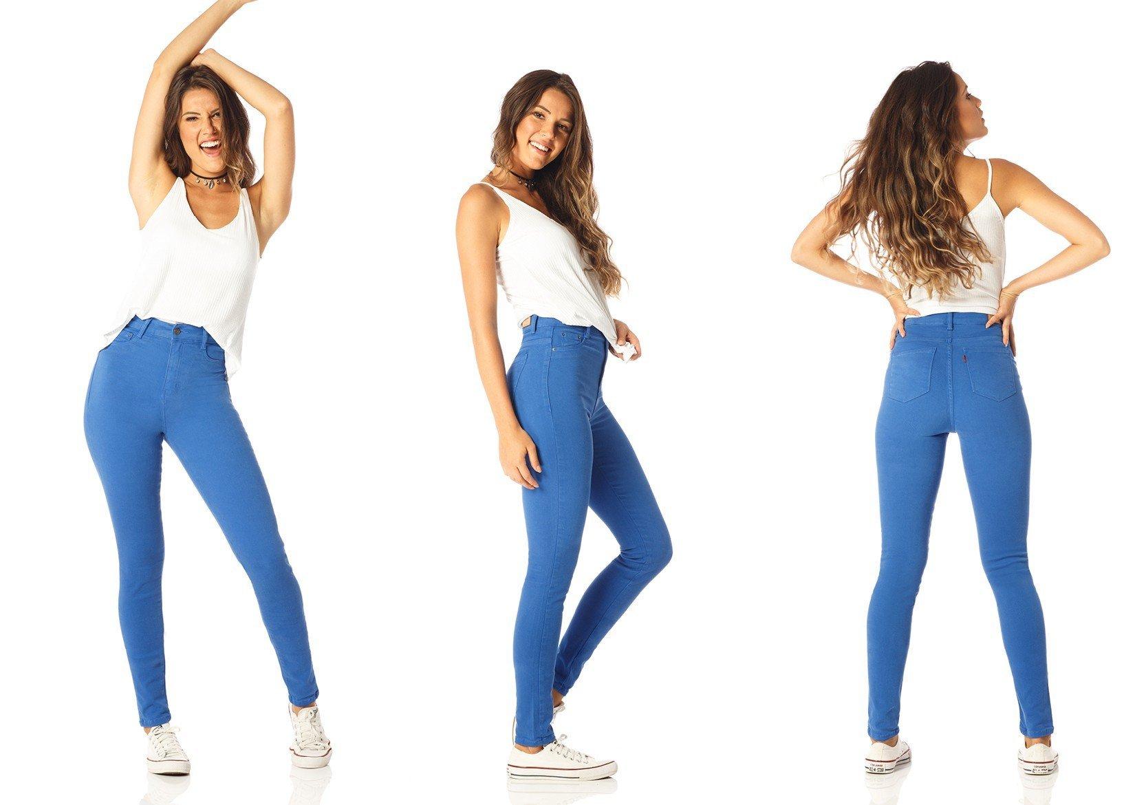109571ce7ef3a Calça Jeans Feminina Color Skinny Cintura Alta - DZ2528