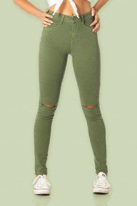 calca skinny media rasgo dz2564 hortela color frente proximo denim zero
