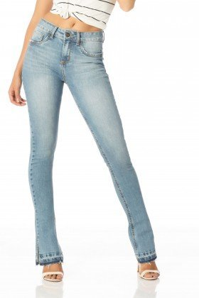 calca new boot cut media fenda dz2478 frente proximo denim zero