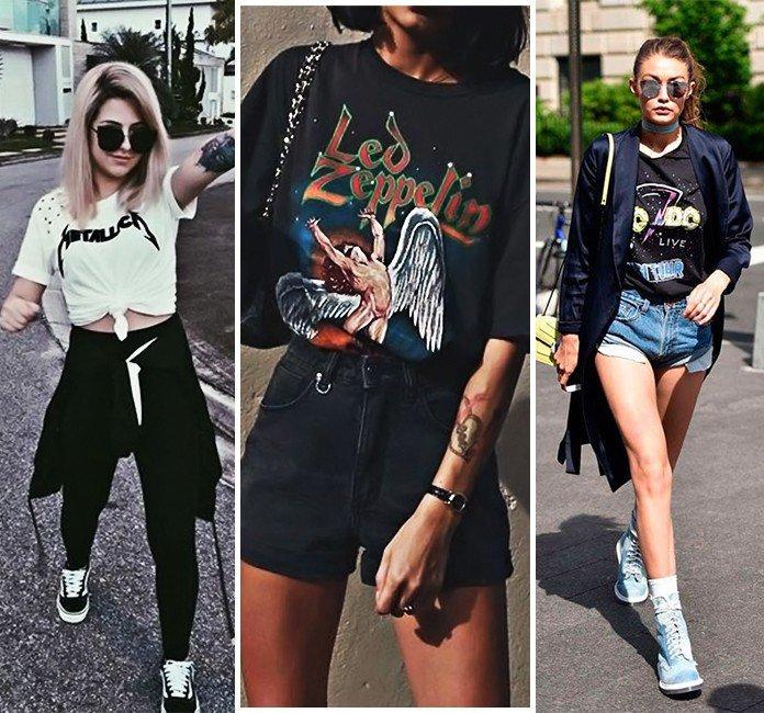 32 os melhores looks com camiseta de banda classico