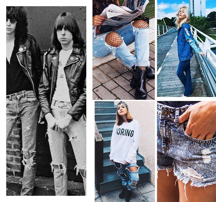33 influencia do rock na moda atual rasgado