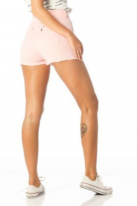 shorts feminino pin up rosa quartz dz6167 costas proximo denim zero